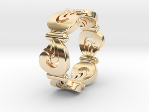 VORTEX SWELL in 14K Yellow Gold