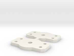 Flat Bolster for Walthers 2 axle trucks in White Strong & Flexible