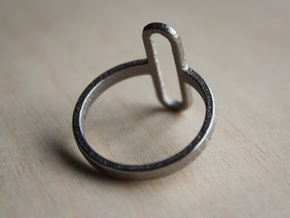 Pill Ring - Size 11.5 in Polished Nickel Steel