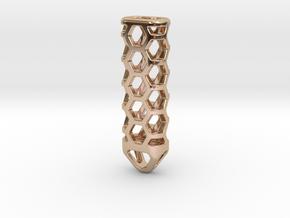 Hex Lantern X2: Tritium (All Materials) in 14k Rose Gold Plated Brass