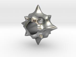 Pollen European Charm Bracelet Bead in Natural Silver