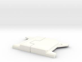 "Captain America WS Belt Buckle V1 (2 3/4"" Wide) in White Processed Versatile Plastic"