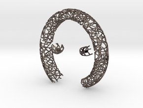 Bracelet (piece 1, 2 and 3) in Polished Bronzed Silver Steel