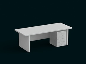 1:39 Scale Model - Table 07 in White Natural Versatile Plastic