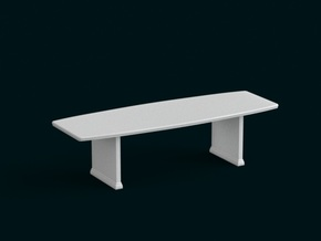 1:39 Scale Model - Table 06 in White Natural Versatile Plastic
