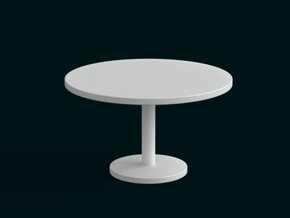 1:39 Scale Model - Table 03 in White Natural Versatile Plastic
