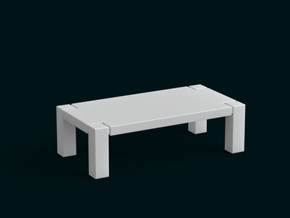 1:39 Scale Model - Table 01 in White Strong & Flexible