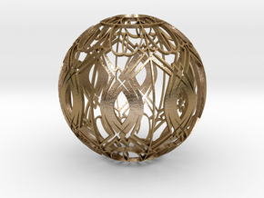 Lampshade (Designer Sphere 3 3mm Thick) in Polished Gold Steel