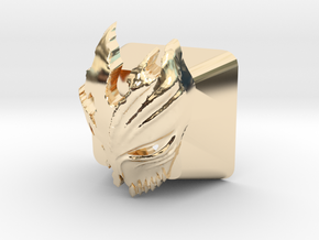 Cherry MX Kurosaki Mask Keycap in 14K Yellow Gold