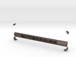 Enterprise Blank in Polished Bronzed Silver Steel