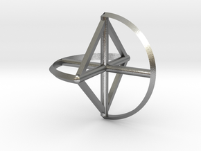 Wireframe Sphericon in Natural Silver