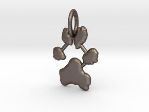 Custom Paw Print Pendants - Roxy's Paw Print in Polished Bronzed Silver Steel