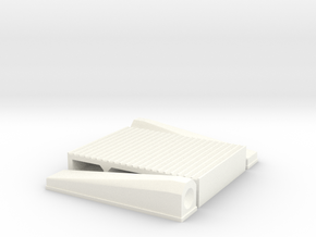 """1/12 Intercooler 12"""" Flow Length By 16"""" Wide in White Processed Versatile Plastic"""
