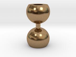 Ikebana Vase-10 in Natural Brass