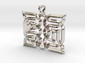 AsYm: Pendant in Platinum