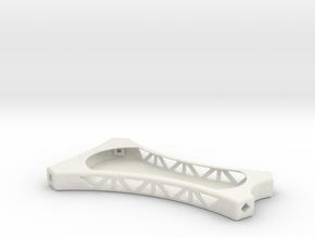VTail Quad Copter Frame in White Natural Versatile Plastic
