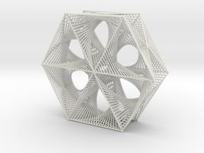 Star Shape Straight Line Curves in White Natural Versatile Plastic