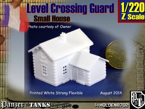 1-220 Crossing Guard Small House in White Natural Versatile Plastic
