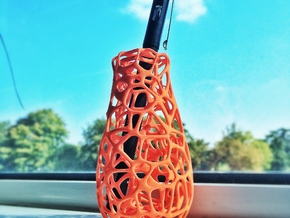 Voronoi Vase / Vase Pen Holder in Orange Strong & Flexible Polished