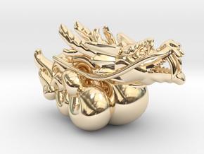 Legend of Kirin Pendant in 14K Yellow Gold