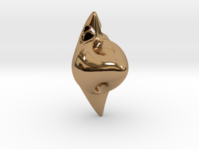 Abstract Pendant in Polished Brass