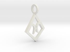Third Eye Charm in White Natural Versatile Plastic