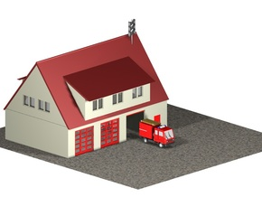 Feuerwache / Fire station (1:220) in White Strong & Flexible