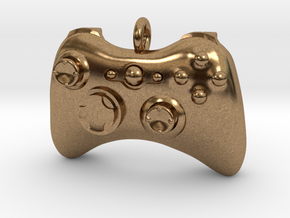 Xbox 360 Controller Pendant (Large) in Natural Brass