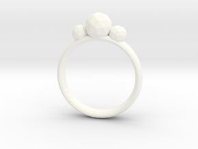 GeoJewel Ring UK Size R US Size 8 5/8 in White Processed Versatile Plastic