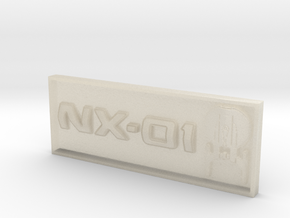 "NX-01 2"" x .75"" Badge. in White Acrylic"