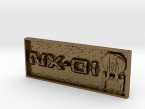 "NX-01 2"" x .75"" Badge. in Natural Bronze"