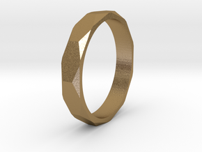 beveled ring   in Polished Gold Steel: 10.5 / 62.75