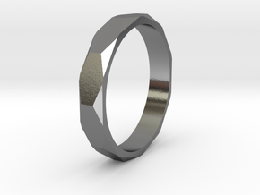 beveled ring   in Polished Silver: 10.5 / 62.75