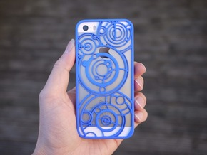 Timelord iPhone 5/5s Case in Blue Processed Versatile Plastic