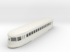 O Scale 1:48 Brill Bullet Interurban Trolley Body in White Natural Versatile Plastic