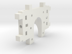 MotorMountXGT2-Shapeways in White Natural Versatile Plastic