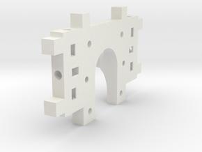 MotorMountXGT2-Shapeways in White Natural Versatile Plastic