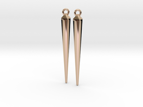 spike earrings in 14k Rose Gold