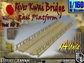 1-160 X4 Units Bridge River Kwai Platforms in White Natural Versatile Plastic