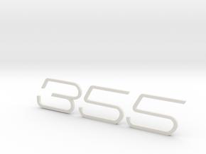 KEYCHAIN 355 F1 INSERTS WHITE in White Natural Versatile Plastic