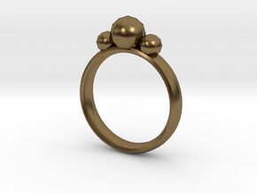 GeoJewel Ring UK Size O US Size 7 in Natural Bronze