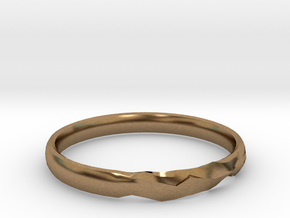 Shadow Ring US Size 7 UK Size O in Natural Brass