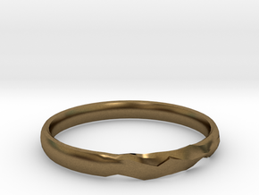 Shadow Ring US Size 7 UK Size O in Natural Bronze