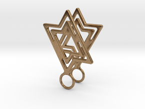 Star of David in Natural Brass