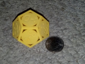 Phantom Tollbooth Dodecahedron - Emoticons in Yellow Processed Versatile Plastic