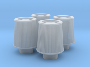 1/24 K&N Cone Style Air Filters TDR 1047 in Smooth Fine Detail Plastic