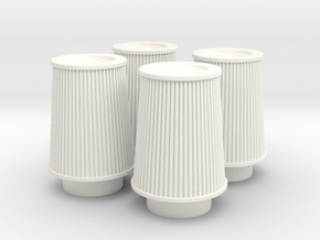 1/12 K&N Cone Style Air Filters TDR 4630 in White Processed Versatile Plastic