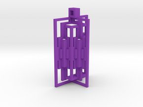 180 Pop Up Pendant in Purple Processed Versatile Plastic