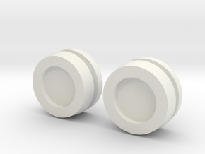 Thruster Cap Pairs Assembled in White Natural Versatile Plastic