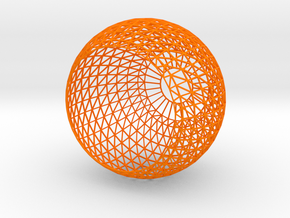 Lamp Shade-6w in Orange Processed Versatile Plastic